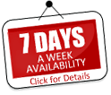 7 Day a week availability