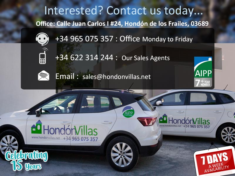 ©2021 Contact Hondon Villas Estate Agent, Hondon Valley